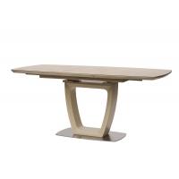 Ravenna Sand стол раскладной стекло 120-160 см бежевый