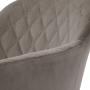 Antiba полубарный стул пудровый серый