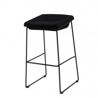 Coin полубарный стул чёрный