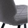 Diamond полубарный стул серый