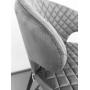 Keen полубарный стул велюр стил грей