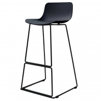 Petal барный стул чёрный
