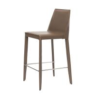 Marco полубарный стул серо-коричневый