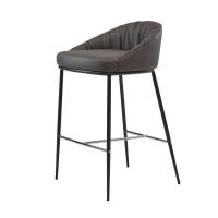 Sheldon полубарный стул экокожа серый графит