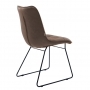 Nord стул на полозьях коричневый