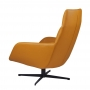 Berkeley лаунж кресло с подставкой, светло-коричневое