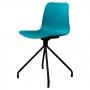Velvet стул бирюзовый (чёрные ножки)