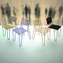 Grille V2 Plywood стул металлический с фанерой