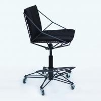 Thorn 3 (Колючка тип 3) металлический стул барный регулируемый с подушками