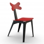 Cirrina Red Leather стул чёрно-красный