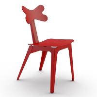 Cirrina Red Leather R (Циррина Рэд Лэзэр Эр) обеденный стул красный