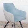 Maya кресло серо-бирюзовое