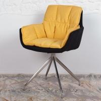Palma (Пальма) кресло поворотное текстиль чёрно-жёлтый