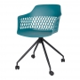 Lavanda Roll стул на колёсиках бирюзовый