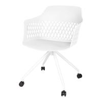 Lavanda Roll стул на колёсиках белый
