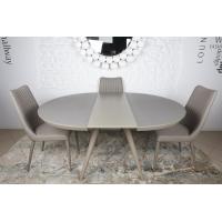 Austin (Остин) стол раскладной 120-160 см стеклокерамика мокко