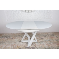 Edinburh стол раскладной 110-155 см белый