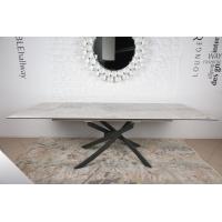 Lincoln (Линкольн) стол раскладной 160-240 см керамика светло-серый глянец