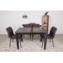 Alta раскладной стол 120-170 см керамика коричневый