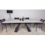 Delta стол керамика 160-240 см чёрно-белый