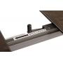 Oslo раскладной стол 140-200 см керамика коричневый тёмный