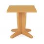 Bravo стол пластиковый квадратный 70 см тик