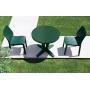 Браво стол пластиковый круглый 80 см зелёный