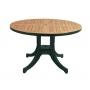 Diva стол пластиковый круглый Д120 см зелёный