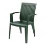 Ализе кресло пластиковое зелёное