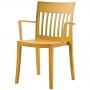 Eden K кресло пластиковое тёмно-жёлтое