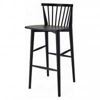 Birdy Black (Бёрди Блэк) барный стул деревянный чёрный