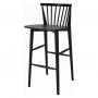 Birdy Black барный стул деревянный чёрный