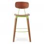 MS-521 барный стул деревянный зелёный
