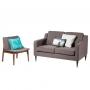 Batley Lounge стул текстиль коричневый