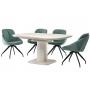 TML-570 стол айвори 110-150 см