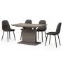 TMM-50-1 стол 120-160 см матовый серый
