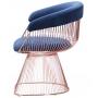 Roller кресло розовое золото, синий
