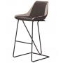 Custer барный стул gunmetal тёмно-серый/светло-серый