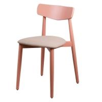Dan стул бежево-красный