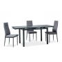 Turin стол 110-170 см чёрный